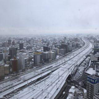 名古屋は雪☃️
